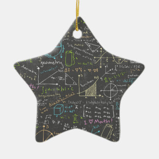 Math Lessons Ceramic Star Ornament