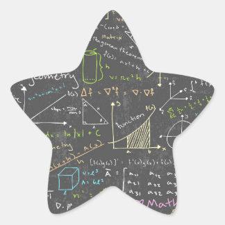 Math Lessons Star Sticker