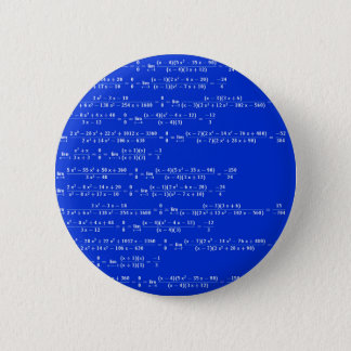 Math limits - Blue model 2 Inch Round Button