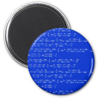 Math limits - Blue model 2 Inch Round Magnet