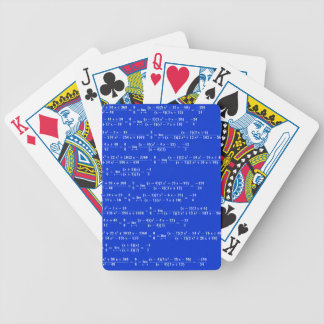 Math limits - Blue model Bicycle Playing Cards