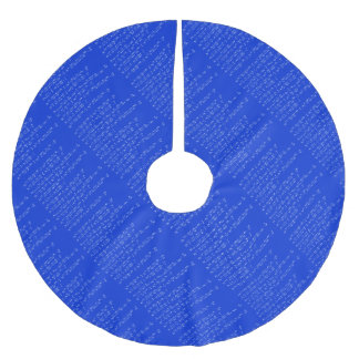 Math limits - Blue model Brushed Polyester Tree Skirt