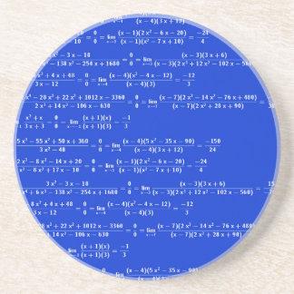 Math limits - Blue model Coaster