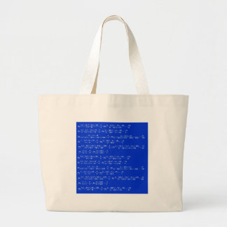 Math limits - Blue model Large Tote Bag