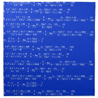 Math limits - Blue model Napkin