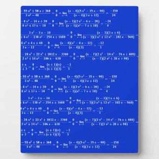 Math limits - Blue model Plaque