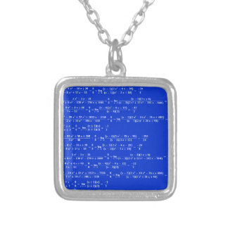 Math limits - Blue model Silver Plated Necklace