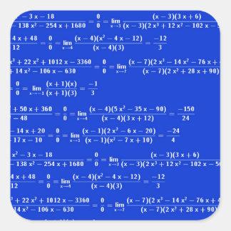 Math limits - Blue model Square Sticker