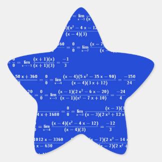 Math limits - Blue model Star Sticker