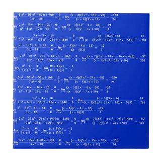 Math limits - Blue model Tile
