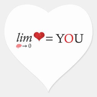 Math love heart sticker