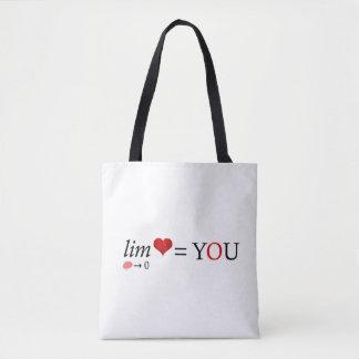 Math love tote bag