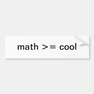 Math Lover's Bumper Sticker
