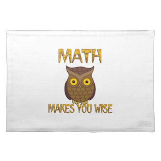Math Makes You Wise Placemat