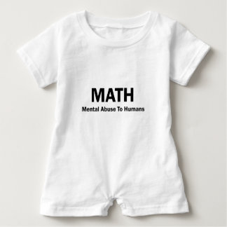 MATH Mental Abuse To Humans Baby Romper