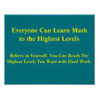 Math Mindsets Poster-Everyone Can Learn Math Poster