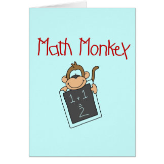 Math Monkey Tshirts and Gifts Card