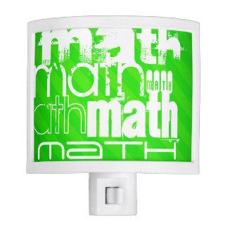 Math; Neon Green Stripes Nite Lite