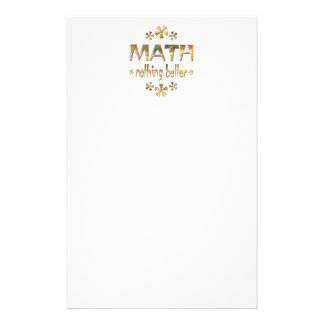 MATH Nothing Better Stationery