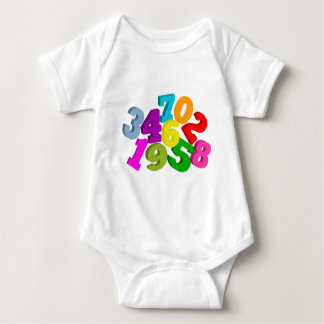 math numbers in color baby bodysuit