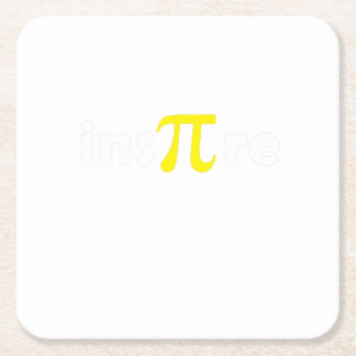 Math Pi Day Gift Shirt Math Lover Square Paper Coaster