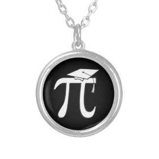 Math Pi Graduate Silver Plated Necklace