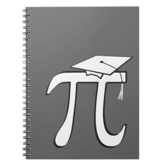 Math Pi Graduate Spiral Note Book