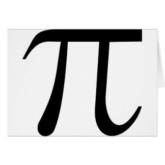 Math Pi Symbol Card