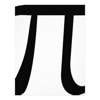 Math Pi Symbol Letterhead