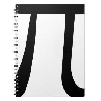 Math Pi Symbol Notebooks