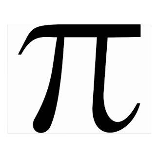 Math Pi Symbol Postcard
