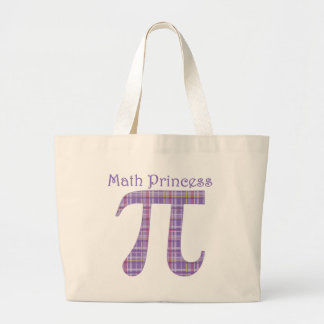 Math Princess Lavendar.png Large Tote Bag