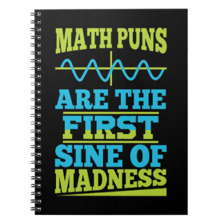 Math Pun First SINE of Madness Notebook