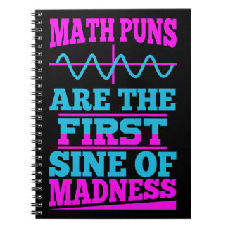 Math Pun First SINE of Madness Notebooks