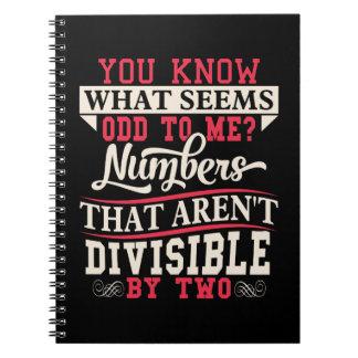 Math Pun Odd Notebooks