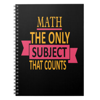 Math Pun Only Subject That Counts Notebooks