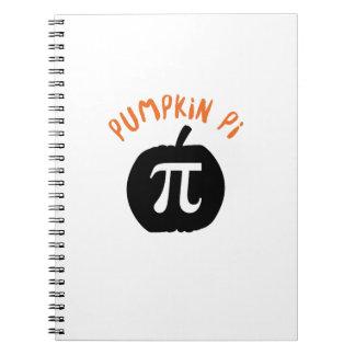 Math Pun Pumpkin Pi Funny Halloweens Notebook