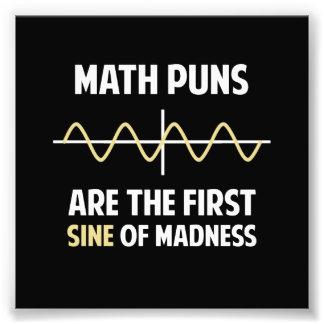 Math Puns First Sine of Madness Photo