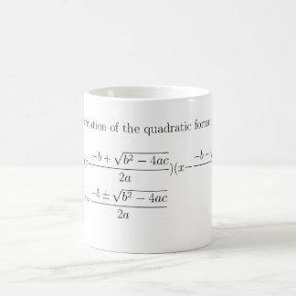 Math quadratic formula mug