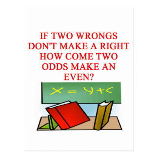 MATH riddle Postcard