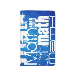 Math; Royal Blue Stripes Journals