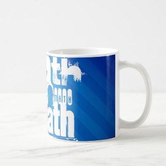 Math; Royal Blue Stripes Coffee Mugs