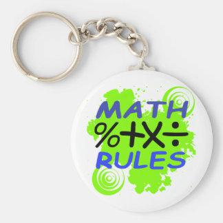 Math Rules Basic Round Button Keychain