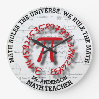 Math School College Or University Teacher Large Clock