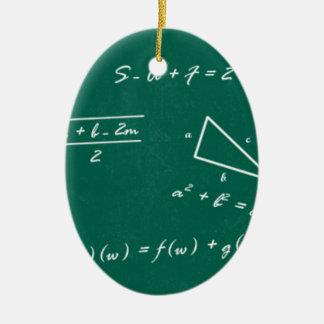 math teacher algebra geek ceramic oval ornament