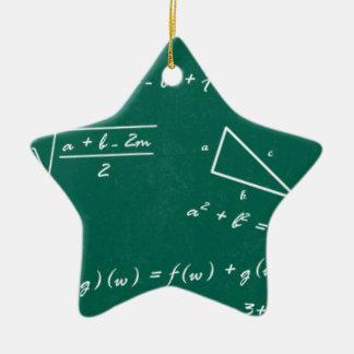 math teacher algebra geek ceramic star ornament