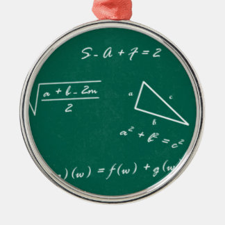 math teacher algebra geek metal ornament