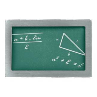 math teacher algebra geek rectangular belt buckle