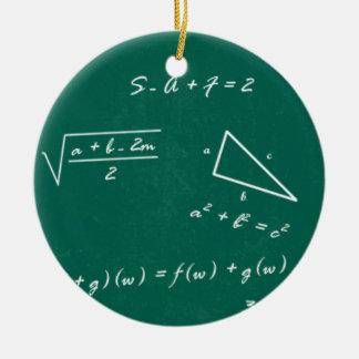 math teacher algebra geek round ceramic ornament
