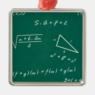 math teacher algebra geek Silver-Colored square ornament